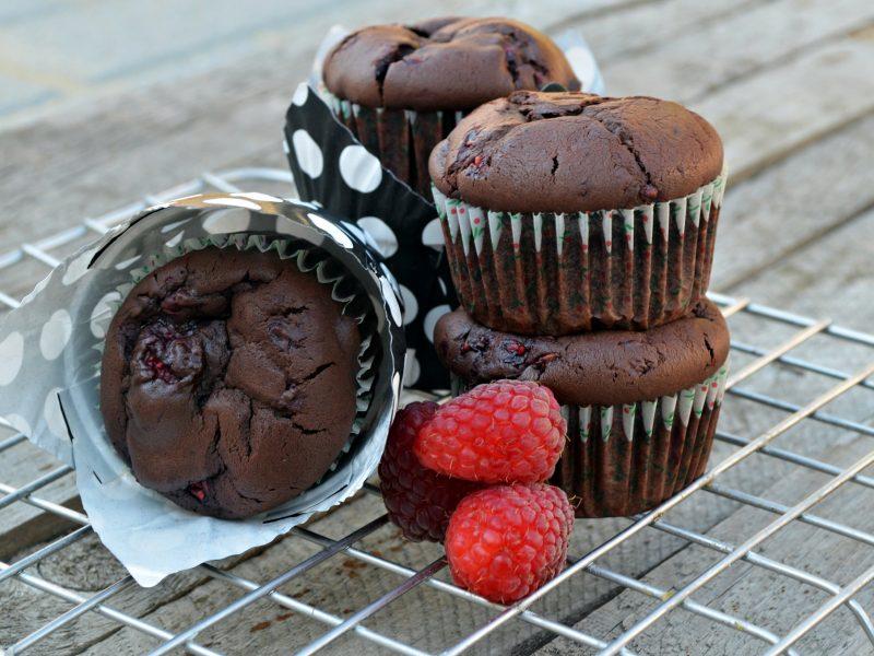 Nagyon csokis málnás muffin bögrésen