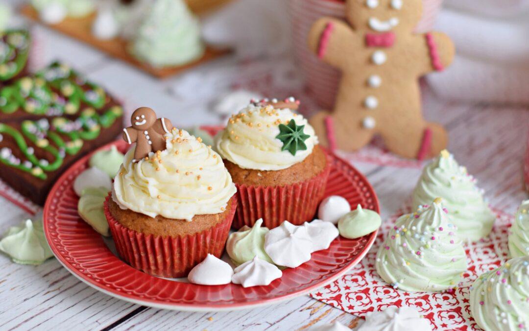 Bögrés mézeskalács cupcake